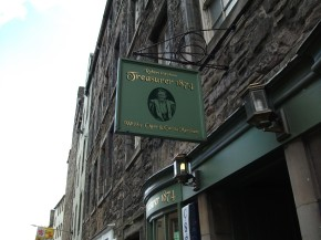 Whisky Shops of Edinburgh-Treasurer 1874